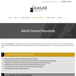 AALAS General Standards - Academy of Active Learning Arts and Sciences