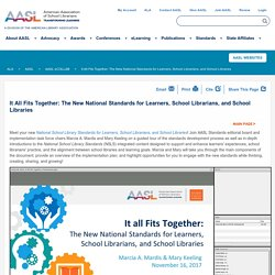 *It All Fits Together: The New National Standards for Learners, School Librarians, and School Libraries