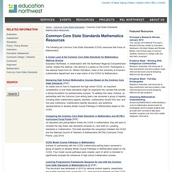 Common Core State Standards Mathematics Resources | Education Northwest