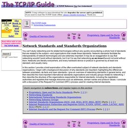 Network Standards and Standards Organizations