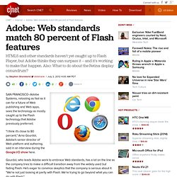 Adobe: Web standards match 80 percent of Flash features