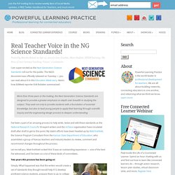 Real Teacher Voice in the NG Science Standards!