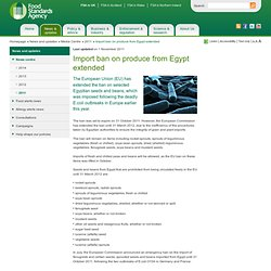 FSA 01/11/11 Import ban on produce from Egypt extended