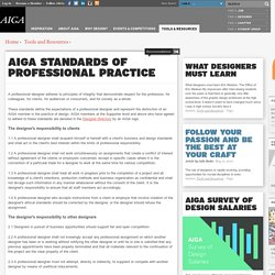 Standards of professional practice