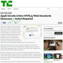 Apple Unveils A New HTML5/Web Standards Showcase — Safari Requir