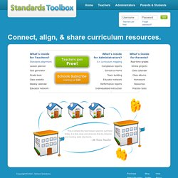 State standards and other teacher tools: Standards Toolbox