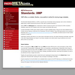 Standards: XMP | Photometadata.org