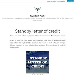 Standby letter of credit – Royal Bank Pacific(wordpress)