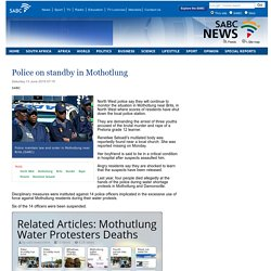 Police on standby in Mothotlung:Saturday 13 June 2015