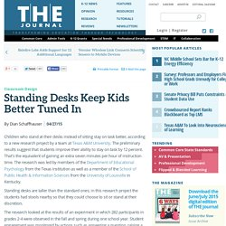 Standing Desks Keep Kids Better Tuned In