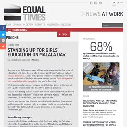 Standing up for girls' education on Malala Day - Equal Times