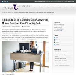 Is It Safe to Sit on a Standing Desk? Interior Concepts