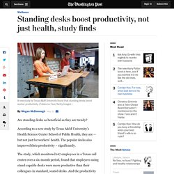 Standing desks boost productivity, not just health, study finds