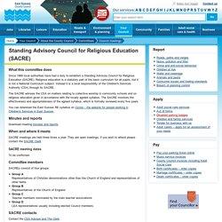 Standing Advisory Council for Religious Education (SACRE)