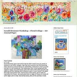 Gerald Brommer Workshop ~ Floral Collage ~ Art Journal Pages