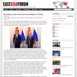 Why China stands to benefit from ambiguity on Crimea