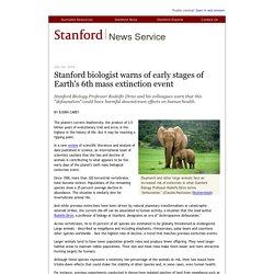 biólogo advierte de las primeras etapas de la sexta extinción masiva de la Tierra