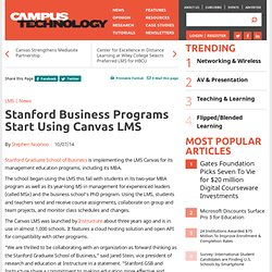 Stanford Business Programs Start Using Canvas LMS
