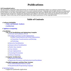 The Stanford SUIF Compiler Group - Publications