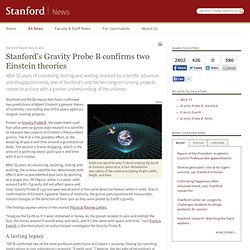 s Gravity Probe B confirms two Einstein theories