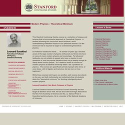 Stanford Continuing Studies :: Course :: PHY 24 - 32 W