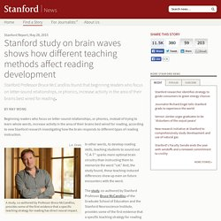 Stanford brain wave study shows how different teaching methods affect reading development