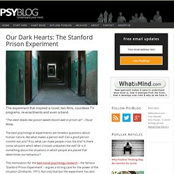 Our Dark Hearts: The Stanford Prison Experiment