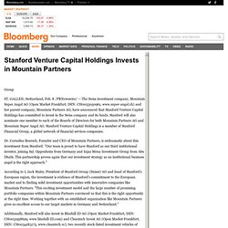 Stanford Venture Capital Holdings Invests in Mountain Partners