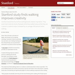 study finds walking improves creativity