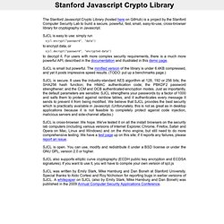 Stanford Javascript Crypto Library
