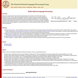 The Stanford Arabic NLP (Natural Language Processing) Group
