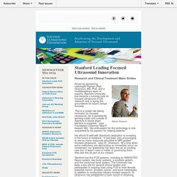 Stanford Leads Innovation and More…