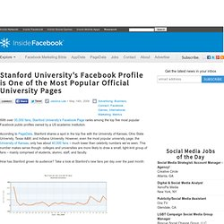 Stanford University's Facebook Profile is One of the M