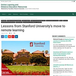 Lessons from Stanford University's move to remote learning