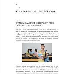 Stanford Language Center's Vietnamese Language Course Singapore