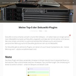 Stankowic development – Meine Top-5 der Dokuwiki-Plugins