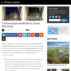 Demi_Stanley - 7 Alternative Methods to Clean The Oven