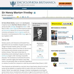 Sir Henry Morton Stanley