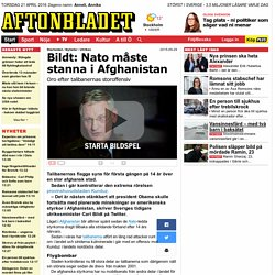 Bildt: Nato måste stanna i Afghanistan