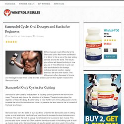 Stanozolol Cycle, Oral Dosages and Stacks for Beginners