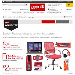 Rewards® - up to 5% back in rewards and free shipping on staples.com®