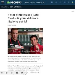 If star athletes sell junk food