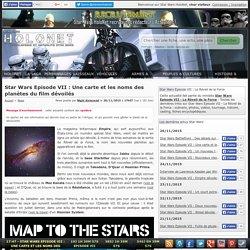 Star Wars 7: Une carte et les noms des planètes du film dévoilés