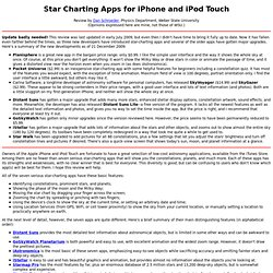 Star Charting Apps for iPhone/iPod Touch