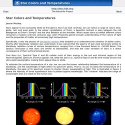 Star Colors and Temperatures