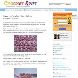 How to Crochet: Star Stitch