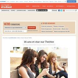 16 ans et star sur Twitter
