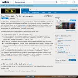 Star Wars Wiki:Droits des auteurs - Star Wars Wiki
