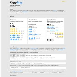 Starbox - Rating stars for prototype