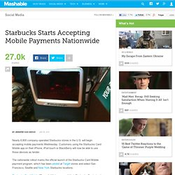 Starbucks Starts Accepting Mobile Payments Nationwide